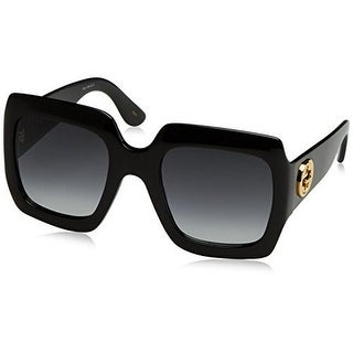 Gucci Womens 54MM Oversized Square Sunglasses, Black/Black/Grey, OS - black/black/grey