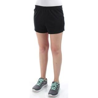 ENERGIE $87 Womens New 1137 Black Straight Leg Active Wear Short Juniors M B+B