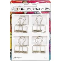 Dina Wakley Media Journal Clips 4/Pkg-