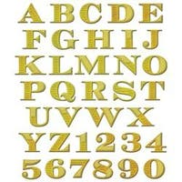 Etched Alphabet W/Numbers - Spellbinders Shapeabilities Dies