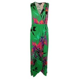 Spense Women's Tropical-Print Tulip Hem Maxi Dress - pm