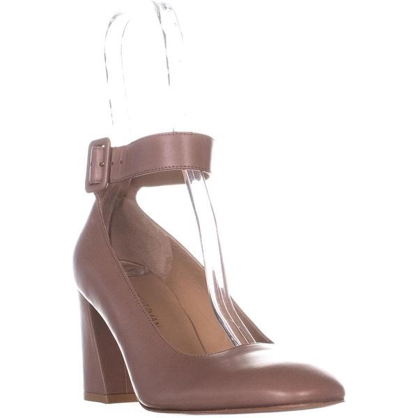 bf993b1bf7 Shop Stuart Weitzman Clarisa Ankle Strap Pumps, Beige - 9 us / 39 eu ...