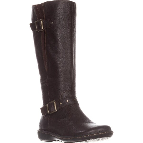 B.O.C Austin Flat Knee-High Comfort Boots, Dark Brown