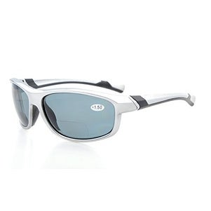 4245cd51ab5 Shop Eyekepper TR90 Polarized Bifocal Sport Sunglasses Silver Frame Grey  Lens+2.5 - Free Shipping On Orders Over  45 - Overstock - 16022360