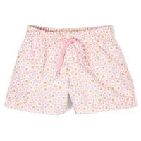 Azul Baby Girls Pink Flower Print Drawstring Dreamy Daisies Swim Shorts