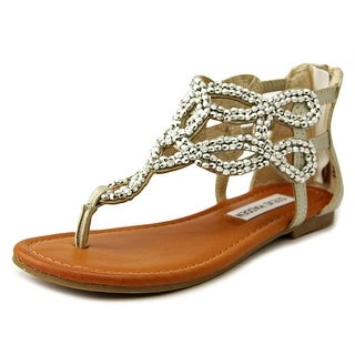 Steve Madden JShiny Youth Open Toe Synthetic Silver Sandals