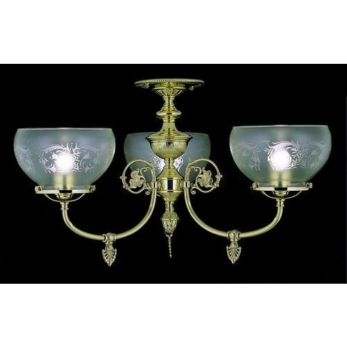 Framburg FR 7523 Semi-Flush Ceiling Fixture from the Chancery Collection