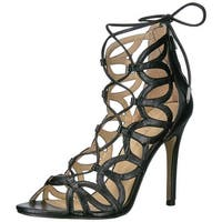 Ivanka Trump Womens Hela Leather Open Toe Casual Strappy Sandals