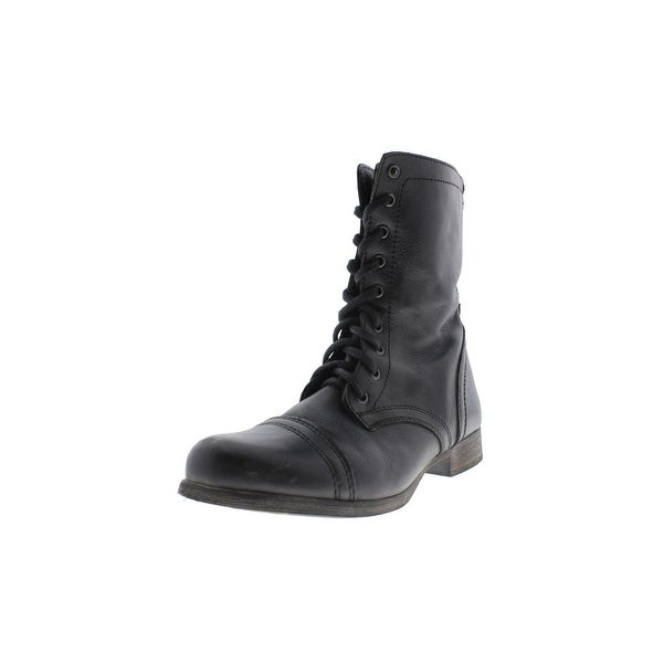 c5572a9d705 Shop Steve Madden Womens Troopa Combat Boots Lace Up Lace-Up - Free ...
