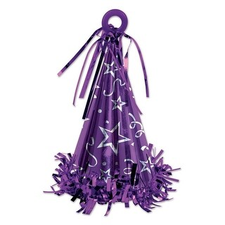 Club Pack of 12 Purple Party Hat Balloon Weight Decorative Birthday Centerpieces 6 oz.