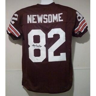 "Ozzie Newsome Autographed Cleveland Browns Size XL Jersey w/""HOF 99"""