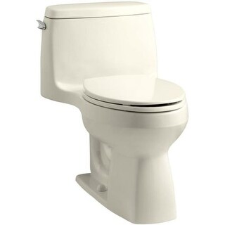 Kohler K-3810 Santa Rosa 1.28 GPF One-Piece Elongated Comfort Height Toilet with AquaPiston Technology - Seat Included