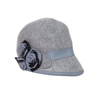 Nine West Women's Grosgrain Rosette Felt Wool Cap - os