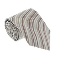 Missoni U4252 Cream/Brown Bengal Stripe 100% Silk Tie - 60-3