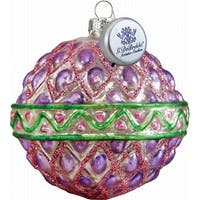 Holiday Splendor Glass Ornament Ball 3 in. - Led Glass Ornament