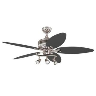 Westinghouse 7234265 52 inch Graphite & Br Nickel 3 Light 5 Blade Xavier Ceiling Fan
