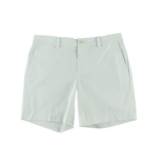 Lauren Ralph Lauren Womens Solid Flat Front Bermuda, Walking Shorts