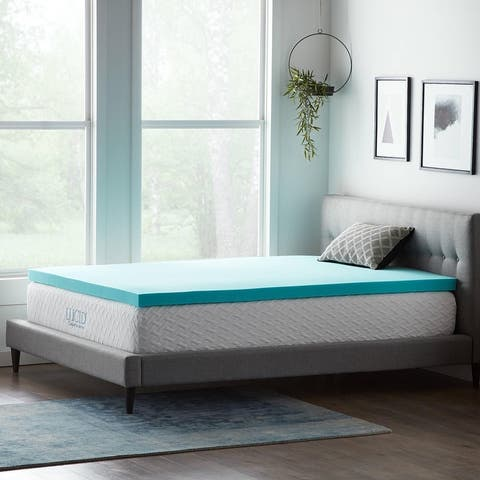 Lucid Comfort Collection 3 Inch Gel and Aloe Memory Foam Topper