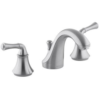 Kohler K-10272-4A Forte Widespread Bathroom Faucet with Ultra-Glide Valve Technology - Free Metal Pop-Up Drain Assembly with
