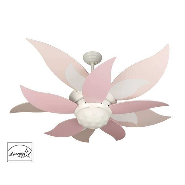 "Craftmade K10368 Bloom 52"" 10 Blade Energy Star Indoor Ceiling Fan - Blades, Remote and Light Kit Included - White"