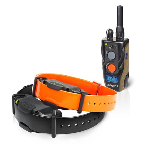 Dogtra 3/4 Mile 2 Dog Remote Trainer - black and orange collars
