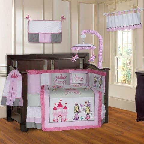 BabyFad Princess 10 Piece Crib Bedding Set
