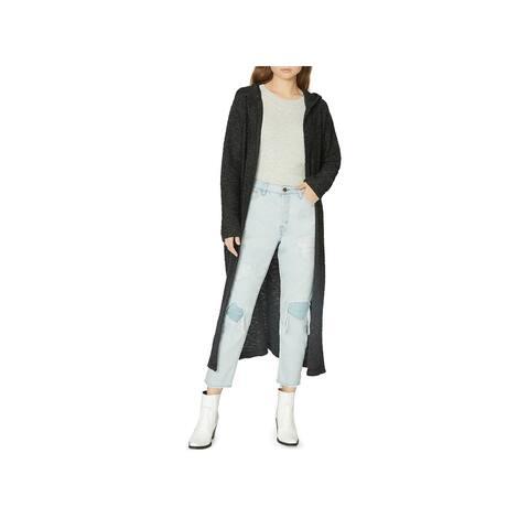 Sanctuary Womens Maxwell Cardigan Sweater Long Hooded