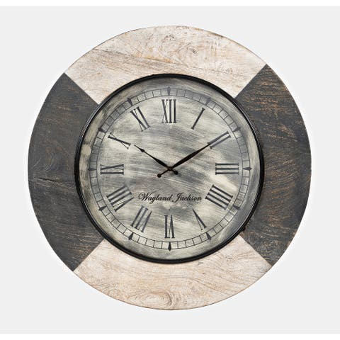 Wayland Jackson Solid Wood 24-inch Clock by Jofran