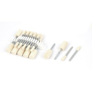 4mm/10mm Cylindrical Head 3mm Shank Mounted Point Polishing Buffing Tool 24 in 1