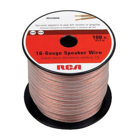 GE/RCA RCAAH16100SRR RCA AH16100SR 100 Ft. 16-Gauge Speaker Wire