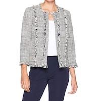 Kasper Gray Women's Size 6 Open Front Flyaway Novelty Tweed Jacket