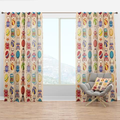 Designart 'Children'S Pattern' Modern Curtain Panel