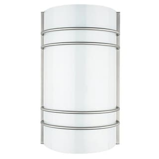 Sunset Lighting F9085 1 Light Fluorescent Energy Star ADA and CA Title 24 Compliant Wall Washer Sconce - bright satin nickel