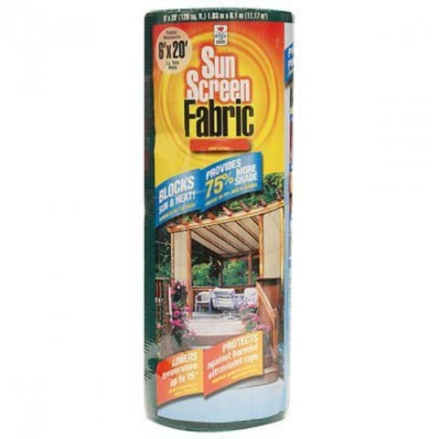 Easy Gardener 72020P Sun Screen Fabric, 6' x 20', Saddle Tan