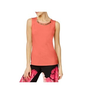 Calvin Klein Womens Shell Embellished Jersey