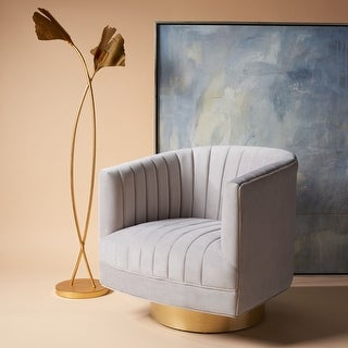 """Link to Safavieh Couture Josephine Swivel Barrel Velvet Chair - 28"""" W x 31"""" L x 30"""" H Similar Items in Accent Chairs"""