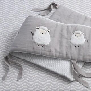 Lambs & Ivy Gray Signature Goodnight Sheep 4-Piece Crib Bumper