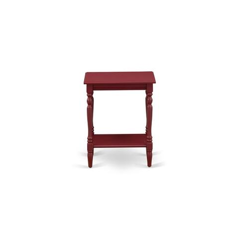 Wood End Table with Open Storage Shelf - Modern Nightstand for Small Spaces, Stable and Sturdy Constructed - (Finish Options)