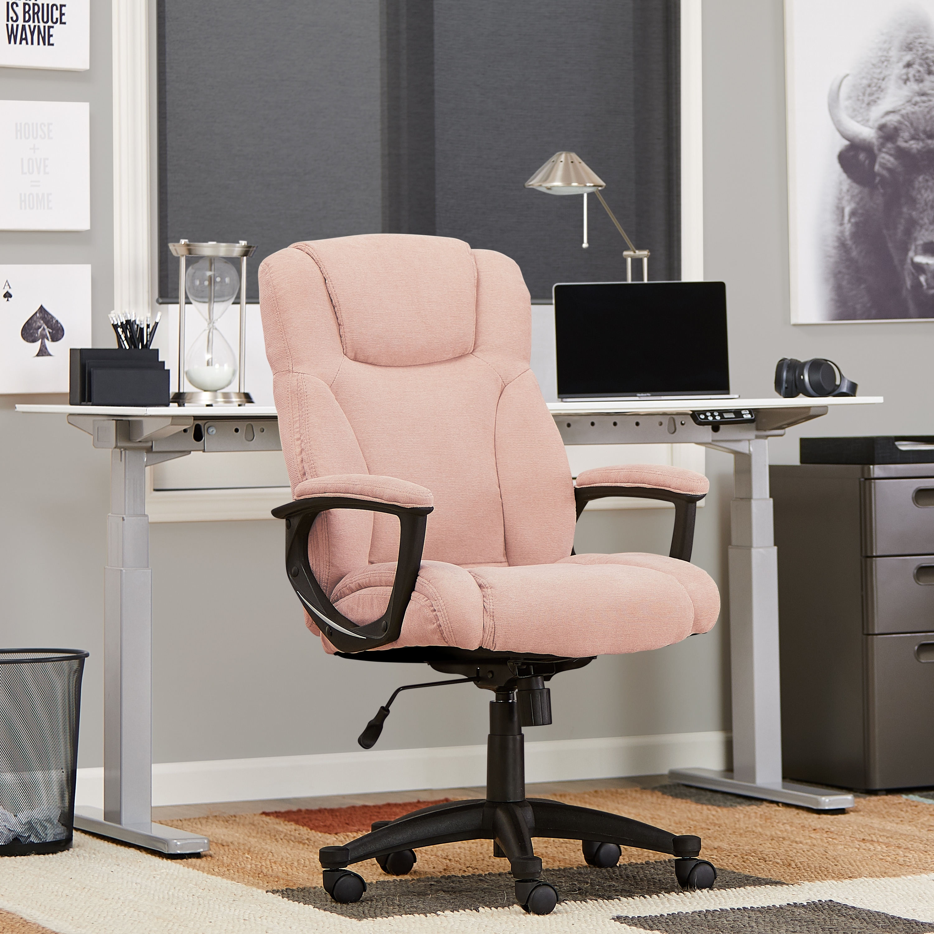 Shop Serta Style Hannah Ii Office Chair Microfiber Pink Overstock 20893067