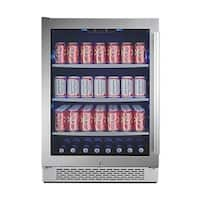 Avallon ABR241GLH 24 Inch Wide 152 Can Energy Efficient Beverage Center with LED Lighting, Double Pane Glass, Touch Control
