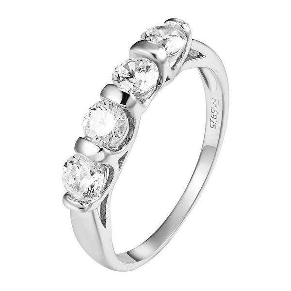 Sterling Silver Solitaire Ring Round Cut Wedding Engagement Simulated Diamond
