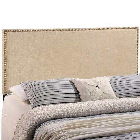 Region Queen-size Nailhead Upholstered Headboard