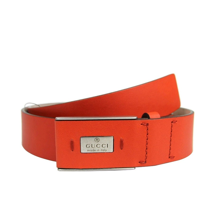 bbaf62dd79101 Shop Gucci Men's Leather Hidden Buckle Trademark Belt 353345 - Free ...