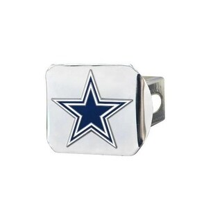 Fan Mats 22552 4.5 x 3.37 in. Dallas Cowboys Emblem on Chrome Hitch