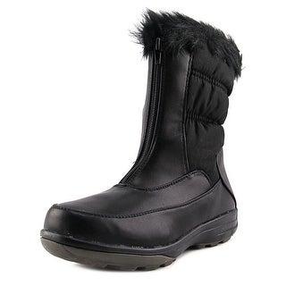 Wanderlust Darcie Women WW Round Toe Leather Black Mid Calf Boot
