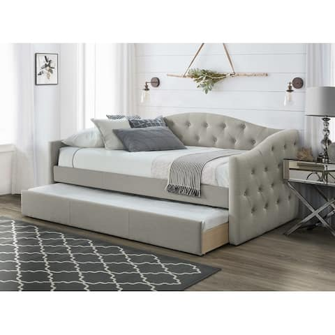 Atlanta Button-tufted Daybed with Twin Trundle