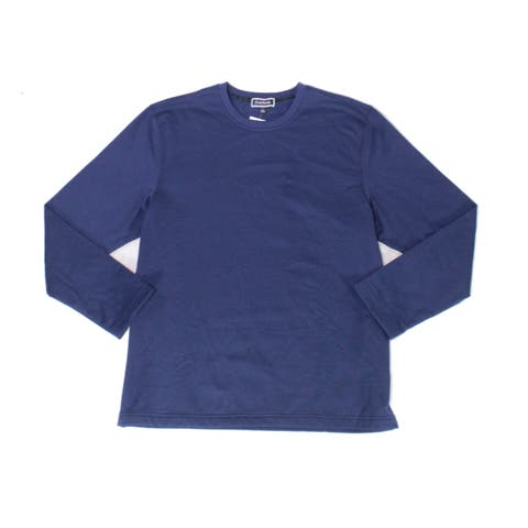 Club Room Mens Sweater Blue Size Large L Pullover Solid Crewneck