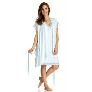 Body Touch Women's Mint Chemise Nightgown & Robe Sleepwear Set (2 options available)