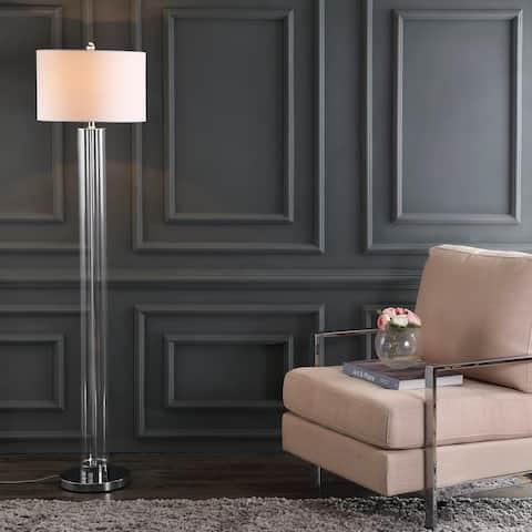 """SAFAVIEH Lighting 64-inch Lovato Chrome LED Floor Lamp - 15"""" x 15"""" x 64"""""""