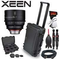 Rokinon Xeen 85mm T1.5 Lens for Canon EF Mount with Rokinon Hardshell Carrying Case - black